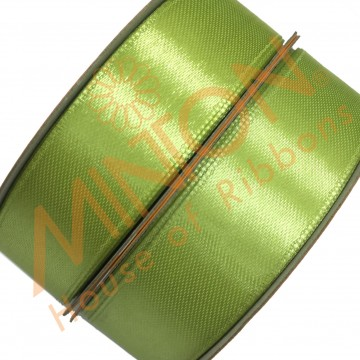 19mmx25yds SF Satin Apple Green