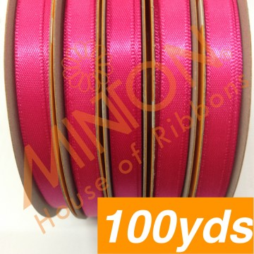 6mmx100yds DF Satin Shocking Pink