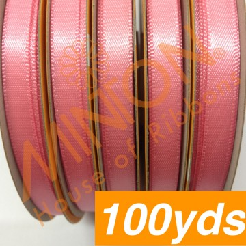 6mmx100yds DF Satin Coral Rose