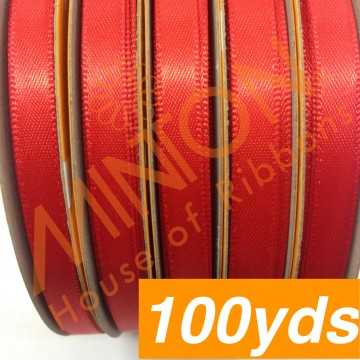6mmx100yds DF Satin Poppy Red