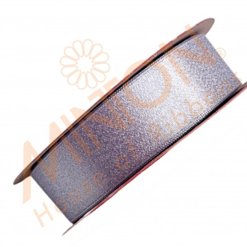 22mmx20yds Purl Satin Light Purple/Silver Thread