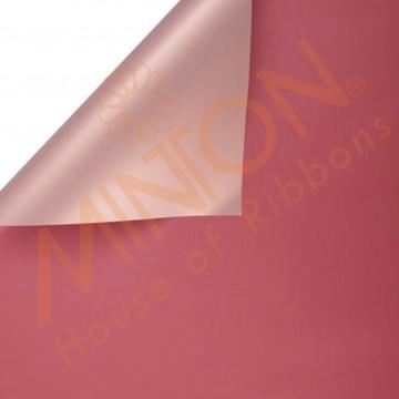 Duo Colour BOPP Plastic Wrapper, 58cmx58cmx20pieces Cinnabar/Rose Gold