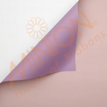 Duo Colour BOPP Plastic Wrapper, 58cmx58cmx20pieces Grape/Quartz Pink