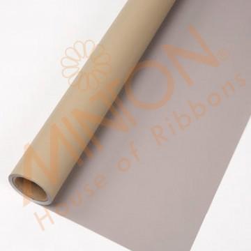 Duo Colour BOPP Plastic Wrapper, 58cmx58cmx20pieces Grey/Milk Tea