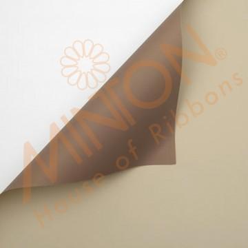 Duo Colour BOPP Plastic Wrapper, 58cmx58cmx20pieces Beige/Light Brown