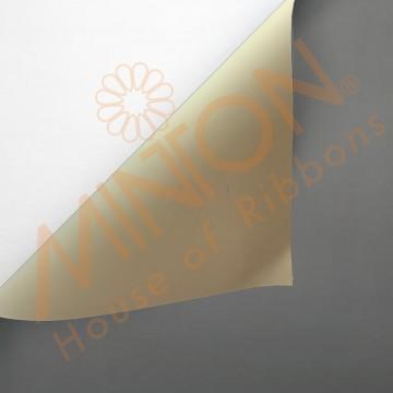 Duo Colour BOPP Plastic Wrapper, 58cmx58cmx20pieces Charcoal/Milk Tea