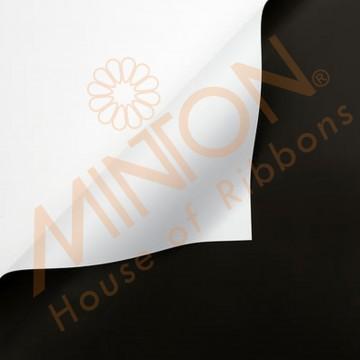 Duo Colour BOPP Plastic Wrapper, 58cmx58cmx20pieces Black/White