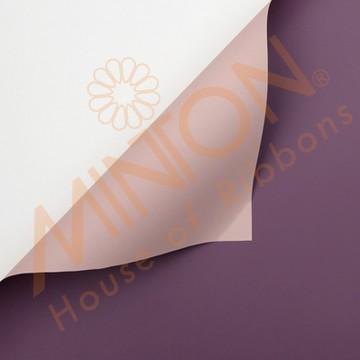 Duo Colour BOPP Plastic Wrapper, 58cmx58cmx20pieces Deep Purple/Pink