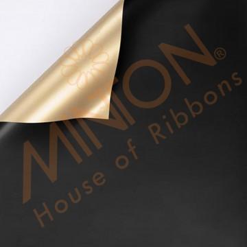 Duo Colour BOPP Plastic Wrapper, 58cmx58cmx20pieces Black/Gold