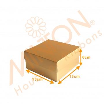 Box with Lid 13*13*6cm x 12pcs Gold