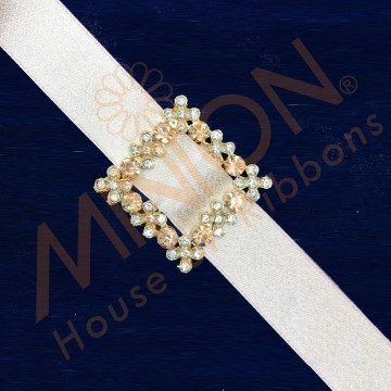 22mmx1pc Floral Buckle Peach