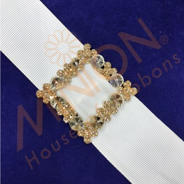 25mmx1pc Floral Buckle Gold