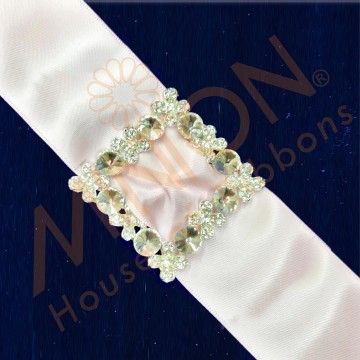 25mmx1pc Floral Buckle Silver