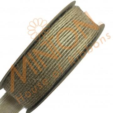 25mmx10yds Burlap Ribbon Natural