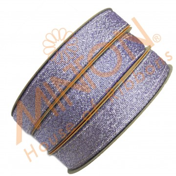 12mmx25yds Met.Lilac/Silver Ribbon