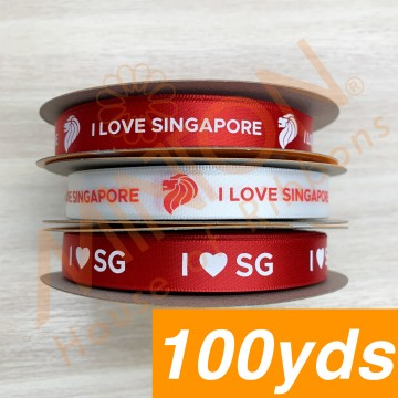 12mmx100yds Singapore Themed Ribbons